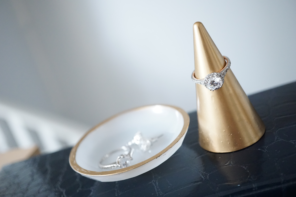 gold dipped ring cone set
