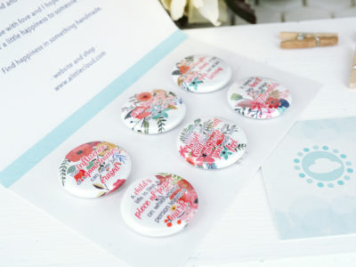 Multi floral teacher magnet set