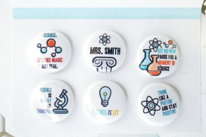 Personalized science teacher magnet set