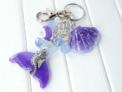 mermaid tail bag charm