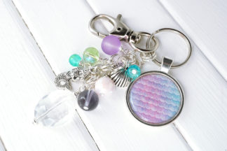 Mermaid Scale Keychain Bag Charm