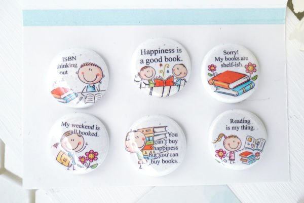 Fun Book Puns magnet set for a book lover