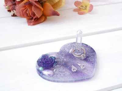 Heart Jewelry Tray with Ring Holder