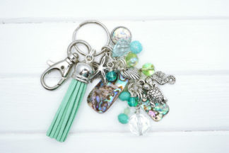 abalone shell bag charm